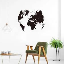 Large World Map Global Earth Wall Decal Office Classroom Travel World Map Earth Wall Sticker Kids Room Bedroom Vinyl Home Decor Wall Stickers Aliexpress