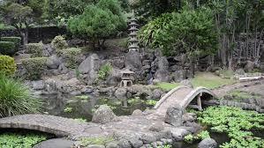 japanese zen garden with waterfall