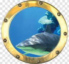 Sticker Porthole Wall Decal Trompe L œil Decoration Art 3d Affixed Mural Transparent Png