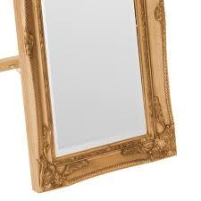antique gold standing mirror