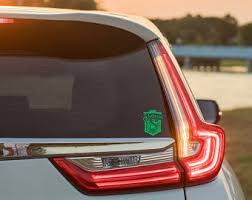 Slytherin Car Decal Etsy