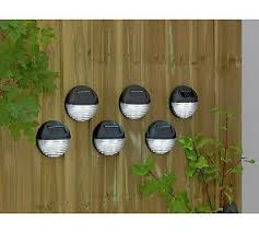 Argos Home Set Of 6 Black Solar Fence Lights Ebay