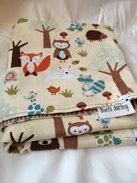 woodland forest animal baby blanket