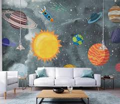 3d Wallpaper Hand Drawn Space Universe Children Room Bedroom Wall Painting Living Room Wall Mural Wallpaper For Kids Room Decor Green Wallpaper H Wallpaper From Lcwallpapers 7 96 Dhgate Com