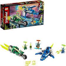 Amazon.com: LEGO NINJAGO Jay and Lloyd's Velocity Racers 71709 ...