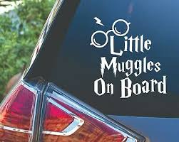 Little Muggles On Board Potter Baby Kids Car Van Vinyl Decal Sticker Ebay