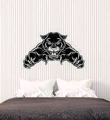 Amazon Com Vinyl Wall Decal Evil Wild Black Panther Attack Animal Predator Stickers 3597ig Home Kitchen