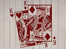 Amazon Com King Of Hearts And King Of Diamonds Playing Card Poker Blackjack Vinyl Wall Sticker Decal Handmade