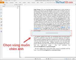 Cách chèn ảnh vào file PDF