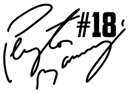 Peyton Manning 18 Denver Broncos Vinyl Decal Sticker Wall Bumper Car Black For Sale Online