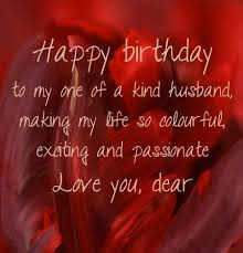 sweet happy birthday message for husband birthday wish for