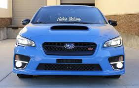 Subaru 16 X3 White Subie Nation Banner Vinyl Decal Sticker Ijdmtoy Com