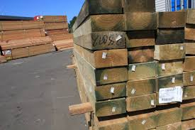 150 X 100 X 3000mm H4 Treated Pine Sleepers Timber Building Supplies Online