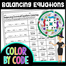 balancing chemical equations color by
