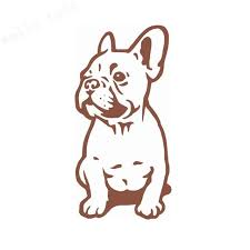 Seated French Bulldog Vinyl Decal The Frenchie Butt