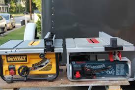 Dewalt Vs Bosch Compact Table Saw Comparison