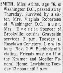 Obituary for Miss Arline SMITH (Aged 76) - Newspapers.com