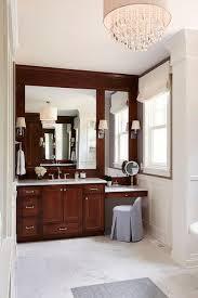 makeup vanity with gray vanity stool