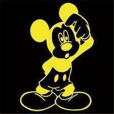 Oracal Large Confused Mickey Mouse Vinyl Decal Sticker Choose Color Size Disney