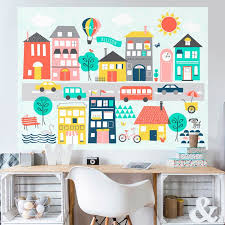 Trip To The City Mural Decals In 2020 Kids Wall Decals Kids Wall Murals Kids Room Murals