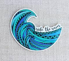 Beach Bumper Sticker Car Windows For Tumblers Laptops Custom Mermaid In The Sea Vinyl Decal Mermaid