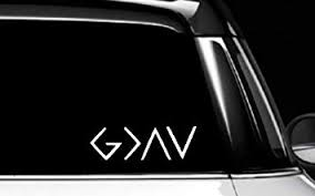 Amazon Com Dream Walkers God Is Greater Than Highs Lows Decal Vinyl Bumper Sticker For Cars Vans Trucks White 6 Inches Automotive