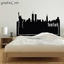 New York Skyline Headboard Wall Decals Graphicsmesh