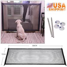 Magic Mesh Pet Dog Gate Door Barrier Safe Guard Fence Enclosure Easy Install Shopee Philippines