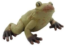 large rustic frog polyresin pond ribbit