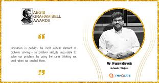 This is what Mr. Pranav Marwah, the... - Aegis Graham Bell Awards | Facebook