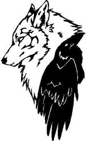 Wolf And A Crow Vinyl Cut Decal