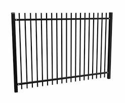 Residential Decorative Aluminum Sectional Fence With Picket Spear Tops