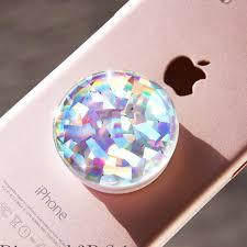 Holographic Opal Gemstone Rainbow Crystal Popsocket Diamond Pop Socket Maniliashop