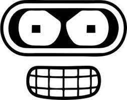 Futurama Bender Face Vinyl Car Window Laptop Decal Sticker Ebay