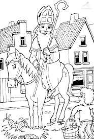 Kleurplaat Sinterklaas Sint Kleurplaat Sinterklaas En De