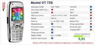Alcatel OT 735i Dane techniczne ...