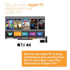 Omantel - Get your Apple TV now with easy installments stars from 2.5 R.O &  enjoy 1 year free subscription of Apple TV+ http://www.omantel.om/Apple-TV