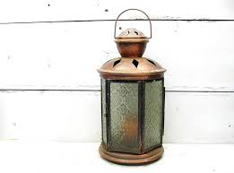 vintage copper plated tin candle