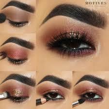 applying eyeshadow for brown eyes