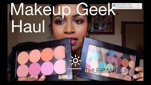 makeup geek haul eyeshadow blushes