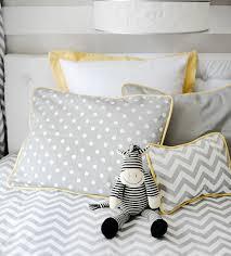 chevron bedding in the nursery or
