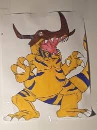 Drew My Favorite Digimon And Slapped That Bad Boy On My Wall Digimon