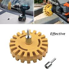 Superb Rubber Wheel Sticker Remover Tool Car Decal Adhesive Eraser Drill Adapter Ebay