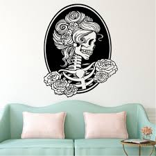 Bibitime Halloween Skull Wall Art Decal Caution These 98 Cool And Creepy Halloween Decorations Will Leave You Bewitched Popsugar Home Photo 72