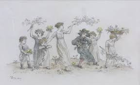 the flower gatherers by kate greenaway no binding sarah