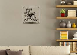 Home Made Of Love Dreams Vinyl Wall Decal Saying For Home Decor