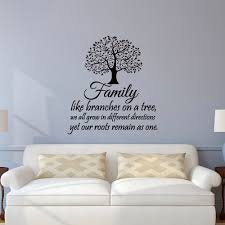 family wall decal quotes family like branches on a tree