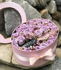 see through oval flower box and mini