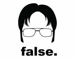 The Office Dwight Schrute False Die Cut Vinyl Sticker Decal Laptop Car Ebay