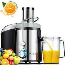 Aobosi Máy ép trái cây 800W điện Wide Mouth Máy ép trái cây Máy của Whole  Rau quả, BPA miễn phí Juice Extractor